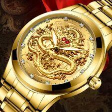 Mens Watch Quartz Analog Gold Waterproof Luxury Wristwatch Men Reloj Para Hombre