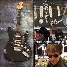 GFA Marky and C.J. Ramone * THE RAMONES * Signed Electric Guitar PROOF AD2 COA