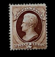 US 1870 Sc# 146  2 c  JACKSON Mint HR* - Crisp Color -