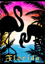 FLORIDA FLAMINGO BIRDS RETRO TRAVEL AD ART PRINT POSTER