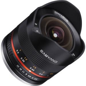 Samyang 8mm F2.8 Aspherical ED UMC II Fisheye Lens Black: SONY And MOUNT CA2557