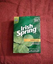 Irish Spring Deodorant Soap, Original, 1 Pack 8 Bars 3.7 oz Each Fresh Clean !