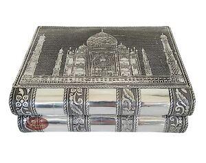 Aluminum Antique Taj Mahal Design Handmade Jewelry Box