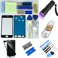 Samsung Galaxy S2 i9100/ i9105 Front Glass Screen Replacement Repair Kit BLACK