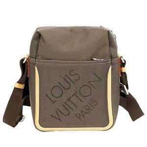 Louis Vuitton Citadan M93040 Damier Geant Shoulder Crossbody Bag Unisex Gray LV