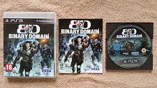 Binary Domain PS3 / Fr complet / blu-ray zero rayure / envoi gratuit