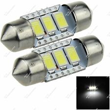 Pair 31MM 30MM 3 SMD 5630 LED Dome Light Panel Lamp Canbus Error Free Car ZI019