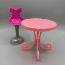 Barbie Furniture Patio Dining Table Counter Chair Stool