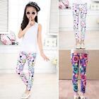 2-14Y Children Kids Girl Baby SUMMER Leggings Flower Floral Print Pants Trousers