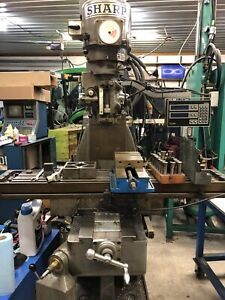 Sharp Vertical Milling Machine  HMV 10x50 With Readout, Servos