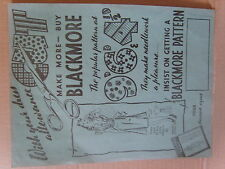 WW2 Blackmore dress pattern advert make do and mend rationing