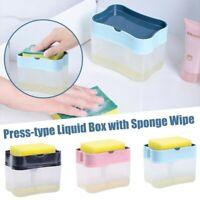 2-in-1 Sponge Rack And Soap Dispenser And Sponge Caddy Kitchen Organiser