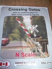 Osborn Model Kits N Scale Crossing Gates add-on    RRA-3114  Bob The Train Guy