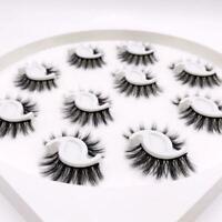 10 Pairs Thick Natural Fake False Eyelashes Eye Lashes Set Womens G1S1