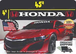 Honda Logo Windshield Banner  Decal Sticker si civic accord del sol ivtec jdm