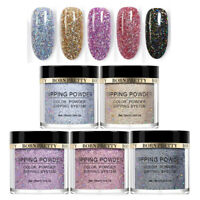5 Boxes BORN PRETTY Holographic Dip Dipping Powder Natural Dry Nail Starter Kit