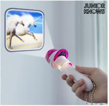 Einhorn Projektions Taschenlampe mit 24 Einhornmotiven, inkl. Batterien, 11,5cm