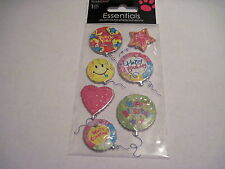 Scrapbooking Stickers Sandylion Happy Birthday Balloons Puffy Foil Happy Face
