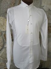 Joseph Abboud White Traditional Wingtip All Cotton Tuxedo Shirt 14.5 32/33 NOS