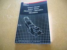 1996 Honda Factory Owners Manual HR215SXA HR215AXA HR215HMA Rotary