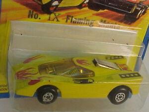 1971 MATCHBOX SUPERFAST FLAMING MANTA HAIRY HUSTLER NEW ON DAMAGED CARD