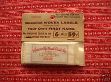 VINTAGE WOVEN FIRST NAME LABELS Personalize Handmade Treasures List Available