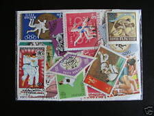 LOT TIMBRES SPORTS / ARTS MARTIAUX : 50 TOUS DIFFERENTS / MARTIAL ARTS STAMPS