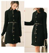 Lady Girls Long Sleeve Knitted Cardigan Sweater Long Fringes Jacket Coat Winter