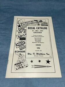 Walthers Decal Catalog VTG 1949 Model Train Ephemera ~ O, HO, OO Gauge