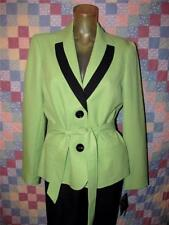 Women's Le Suit Size 4 Tuileries Black Pants & Green Blazer Jacket Fully Lined