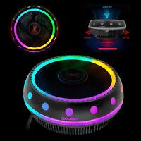 RGB LED CPU Cooler Fan Heatsink for Intel LGA1155 /775/AMD4/AM3+ AM2+/FM1 lz