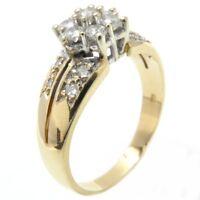 Ring Anillo Bague Goldring 585 GOLD Brillanten brilliant Diamanten diamonds 14K