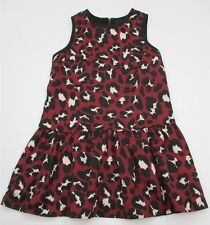 new AARK & CO #DR1322 Women Size M Flowy Sleeveless Spotted Burgundy Shift Dress