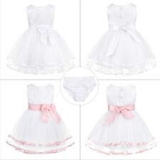 Newborn Tulle Christening Baby Princess Girls Dress Wedding Baptism Kids Clothes