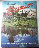 Vintage Souvenir Book Mount Rainier National Park FULL COLOR