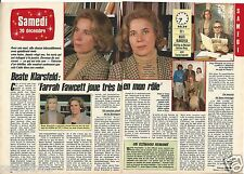 Coupure de presse Clipping 1988 Beate Klarsfeld et Farah Fawcett (2 pages)