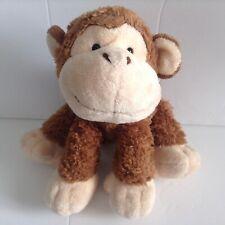 Russ Berrie Brown Monkey Plush Beaded Eyes Stuffed