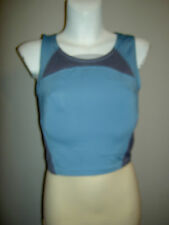 LOVELY LADIES NIKE FITNESS GYM CROPPED VEST TOP SIZE 12 - 14 BUILT IN SUPPORT