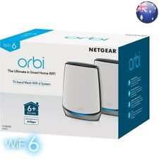 NETGEAR Orbi Rbk852 Ax6000 Tri-band Mesh WiFi 6 System *2pack* &