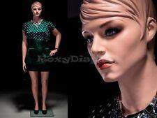 Plus Size Female Mannequin Fiberglass Pretty face elegant looking #MZ-AVIS3