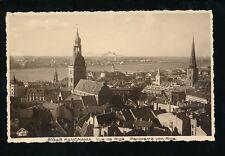 Latvia RIGA Panorama c1950s? RP PPC