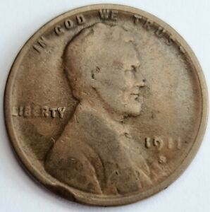 1911-S Lincoln Wheat Cent Penny San Francisco Mint 11S-Z10