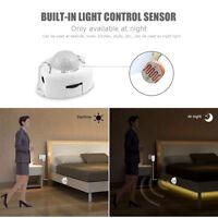 1-5M LED Wireless PIR Motion Sensor Waterproof LED Strip Light Home Decor US/EU