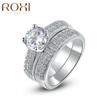 White Gold Plated Round Costume Rings Sizableless
