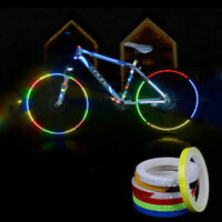 Bicycle Reflective Stickers Motorcycle Reflector Security Wheel Rim Decal Tape X