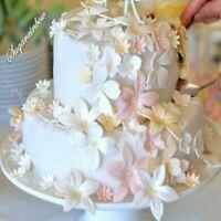 36 EDIBLE SUGAR GUM PASTE FONDANT FLOWERS CAKE CUPCAKE TOPPER DECORATIONS