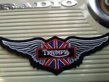 TRIUMPH SEW OR STICK ON WINGED PATCH