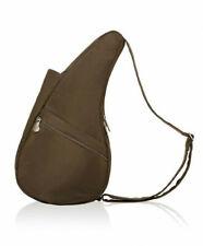 AmeriBag Healthy Back Bag Messenger Shoulder Bag Taupe Brown Microfiber Small