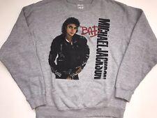 Junk Food Tees Size Medium Michael Jackson Bad Heather Gray Crew Neck Sweater