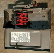 Square D Disconnect 30 Amps 600 Volt Cat# HU361  Unfused